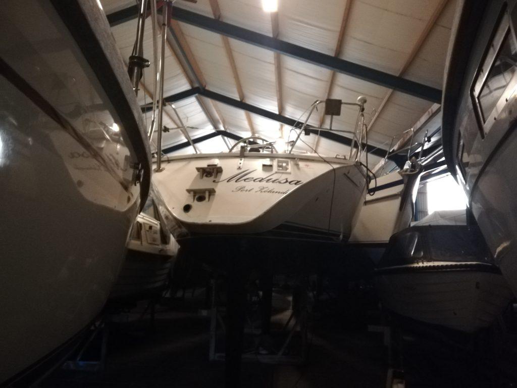 Viele Boote im Winterlager